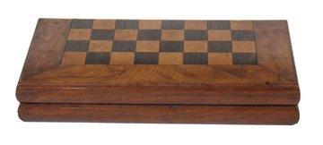 Nineteenth-century mahogany and chequered inlaid games