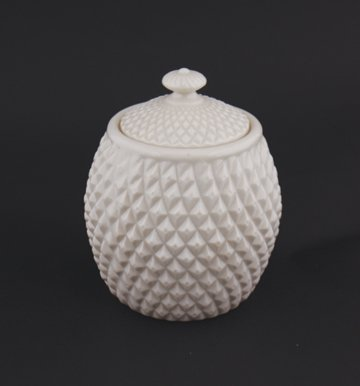 Belleek pottery diamond biscuit jar (new model)