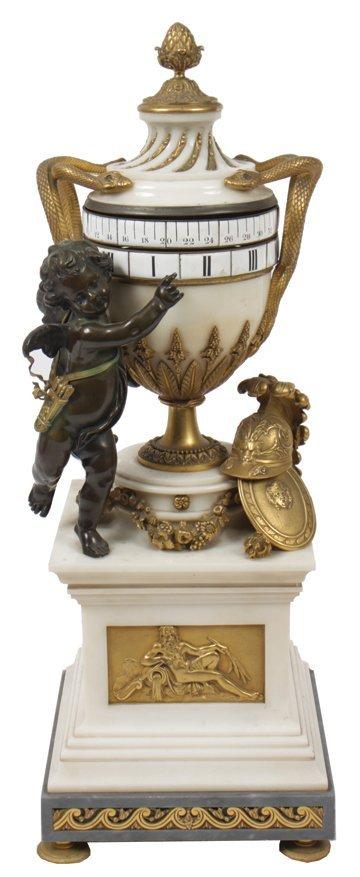 Rare Louis XVI period marble and ormolu mounted revolvi