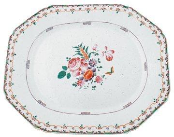 Eighteenth-century Chinese export famille rose platter