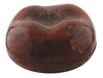 Chinese Qing period square lacquer box and lid