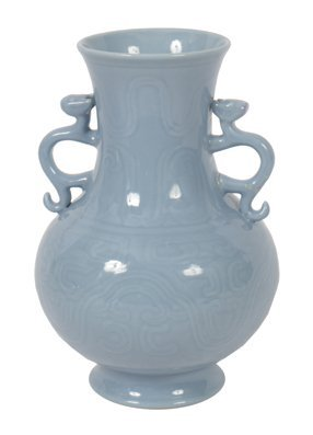 Chinese Qing period claire de lune glazed vase