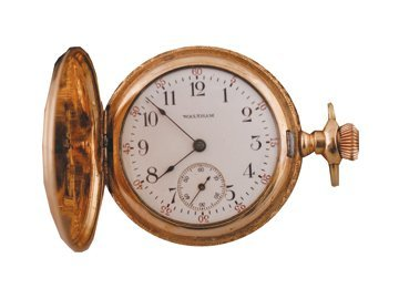 Waltham pocket watch with hunters case