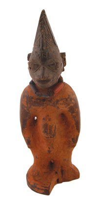 Nineteenth/twentieth-century  African carved polychrome