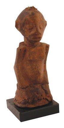 Nineteenth/twentieth-century  African carved  figure of