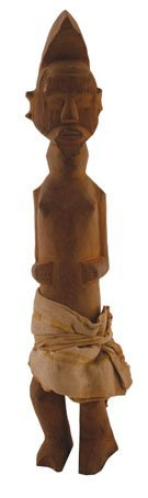 Nineteenth/twentieth-century African carved male figure