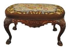 Late nineteenth-century Dublin carved mahogany stool