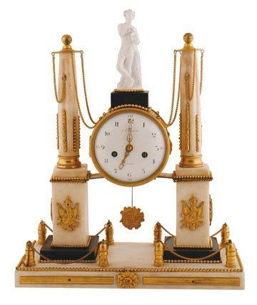 Eighteenth-century ormolu and marble clock