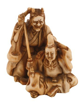 Meiji period ivory netsuke group