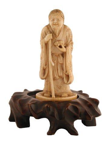 Meiji period ivory sage figure