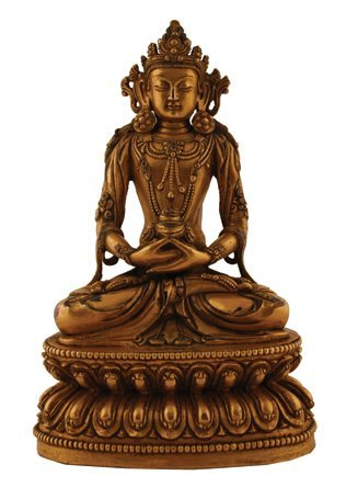 MIng period glit bronze Buddha
