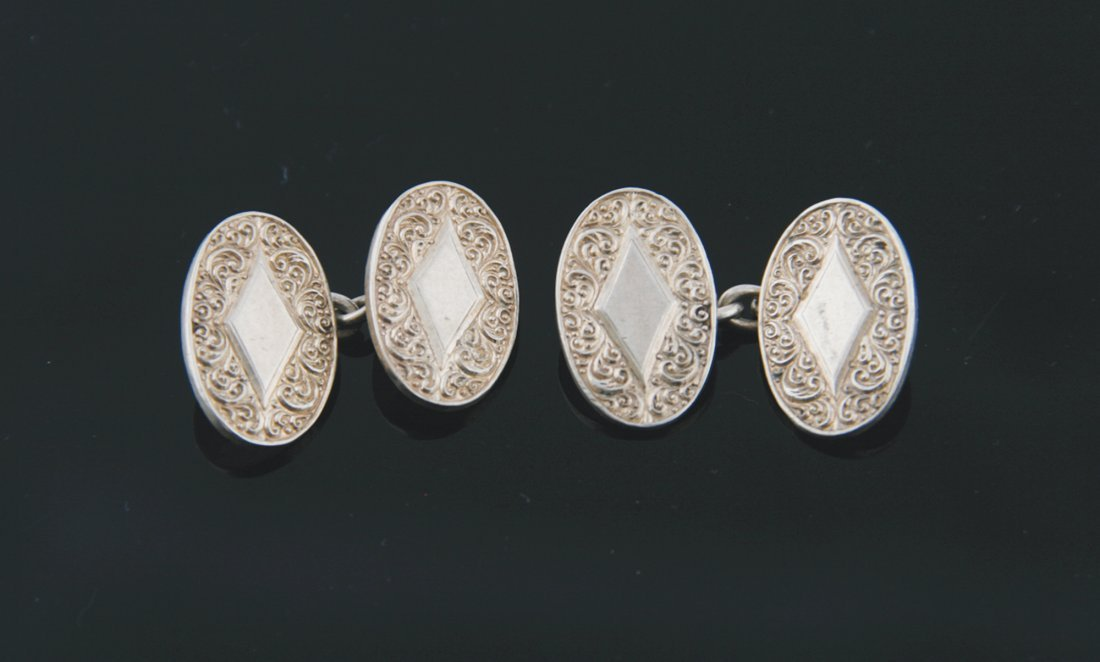 Pair of silver Charles Horner designed cufflinks