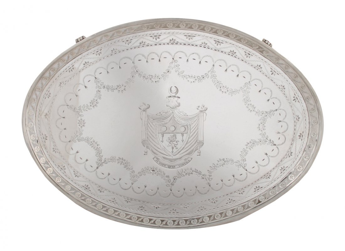 Rare Irish silver tray,