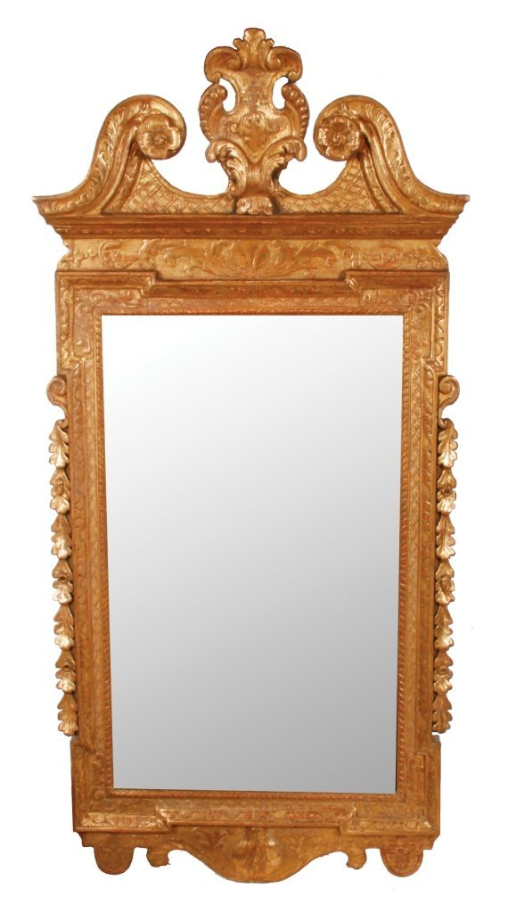 George II period Irish gilt framed pier glass, circa