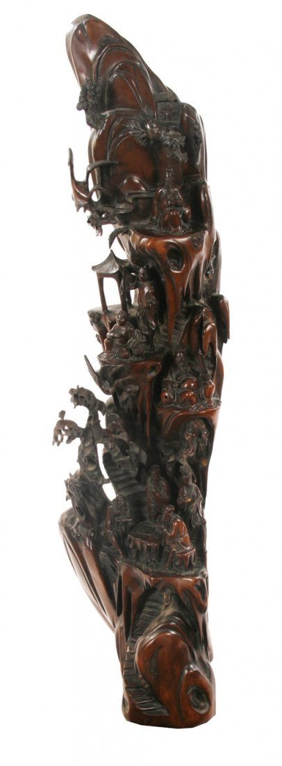 Nineteenth-century Chinese carved hardwood figure and