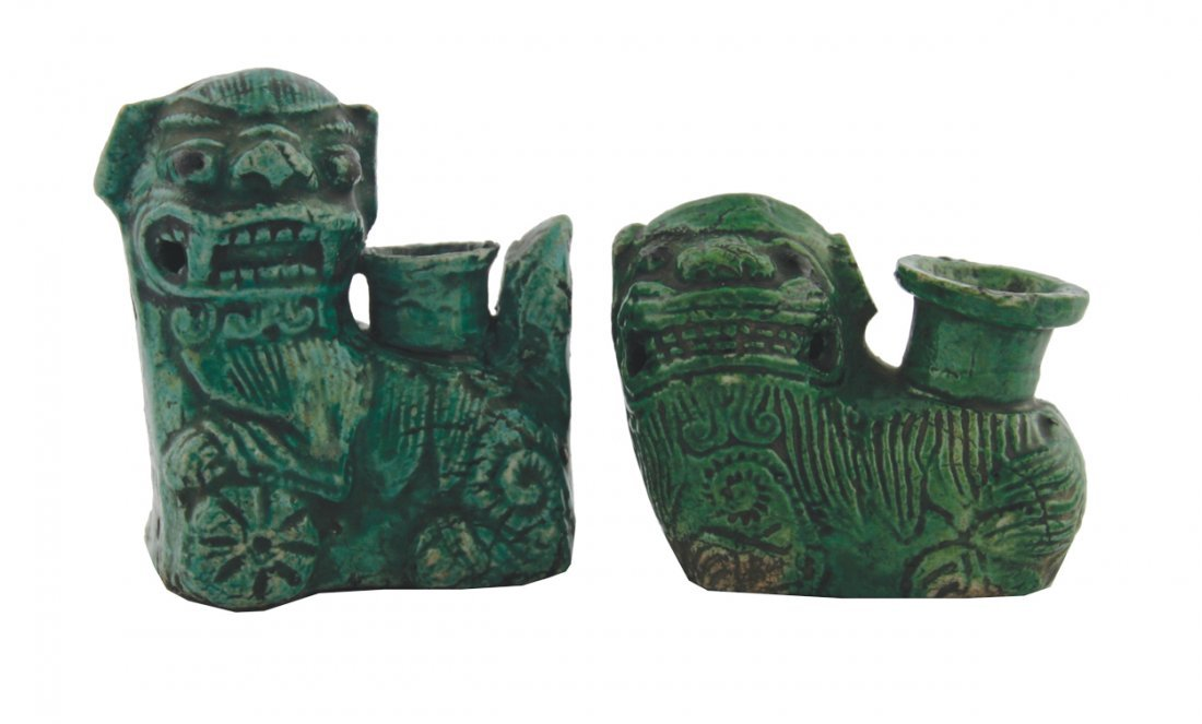 Two nineteenth-century Chinese Fo dog shaped water