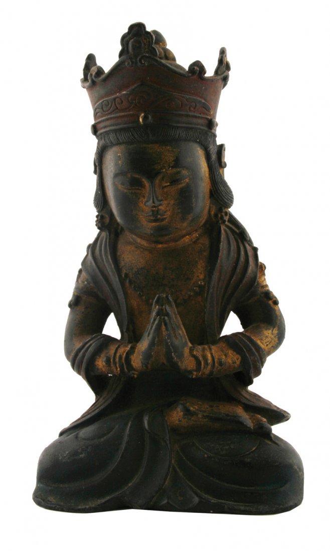 17/18th century bronze young Buddha