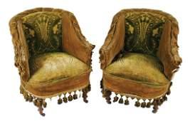 Pair of late nineteenth-century mahogany and