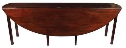 Large Irish mahogany George III style hunt table