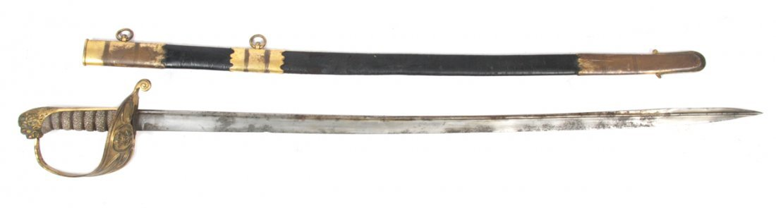 Nineteenth-century British officer's pipe back sword