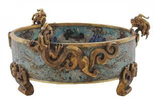 Chinese Qing period cloisonné enamelled Jardinière