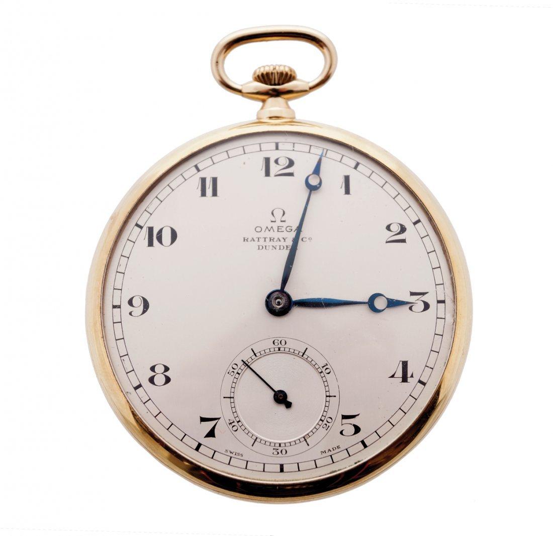 9 ct. gold Omega pocket watch