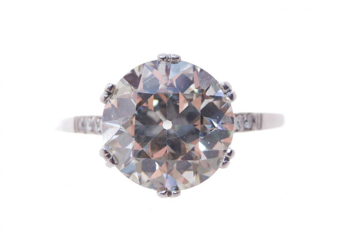18 ct. platinum and 4.3 ct. diamond ring