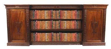Edwardian period Adam style mahogany library floor