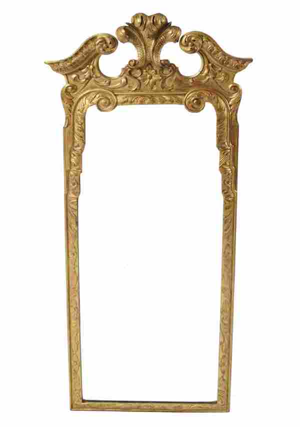 Pair of late nineteenth-century carved gilt wood