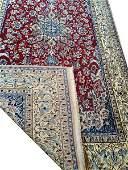 Silk and wool Persian carpet