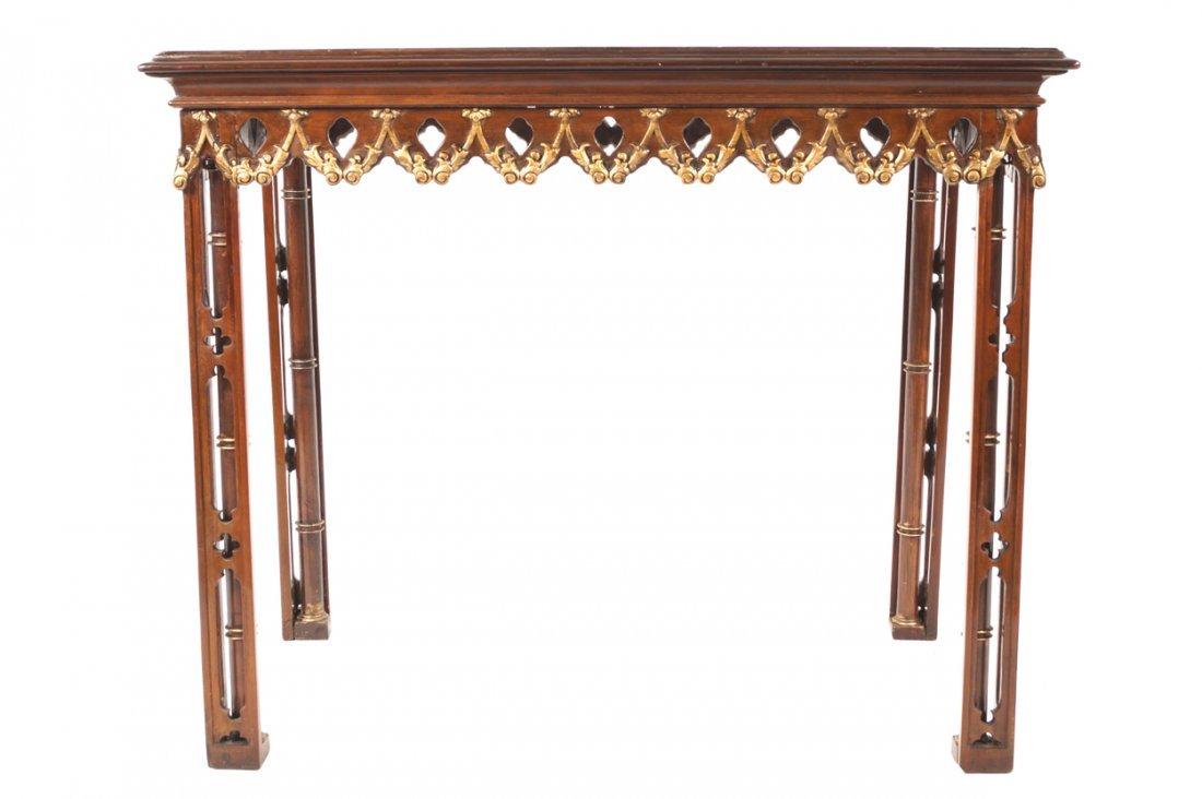 Eighteenth-century period mahogany and parcel gilt