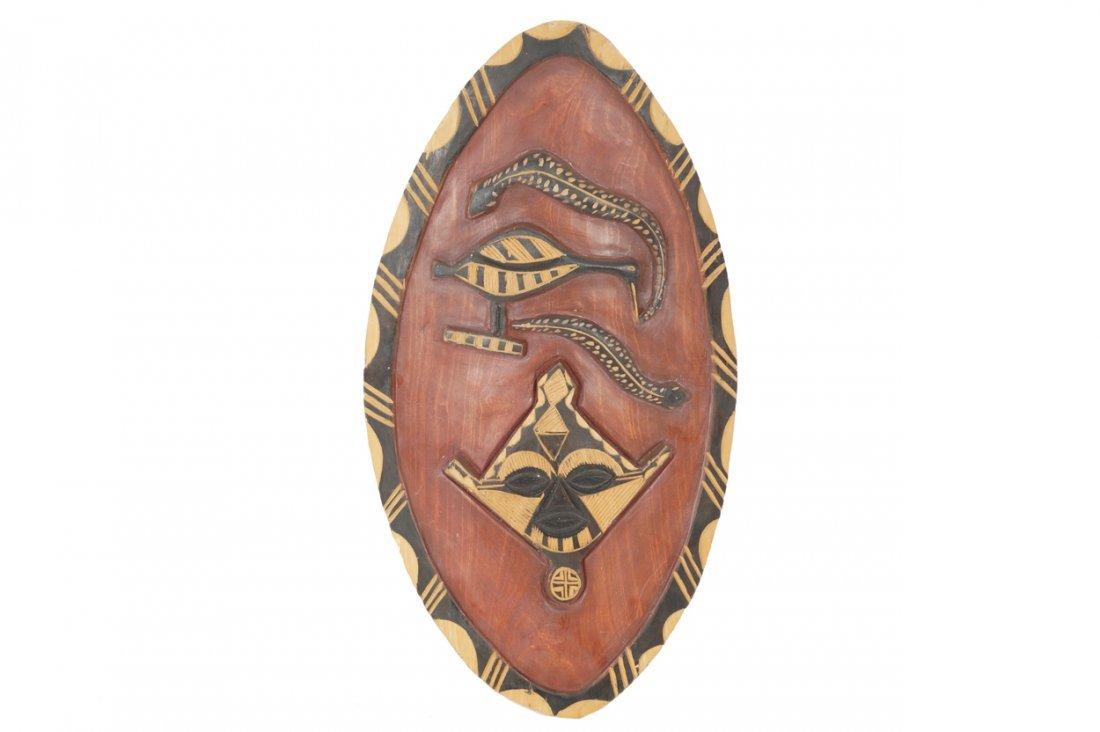 Carved twentieth-century African shield