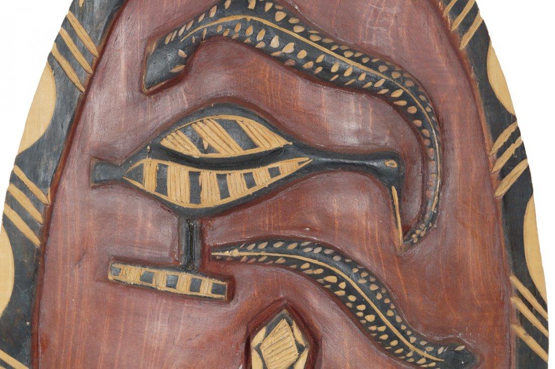 Carved twentieth-century African shield - 3