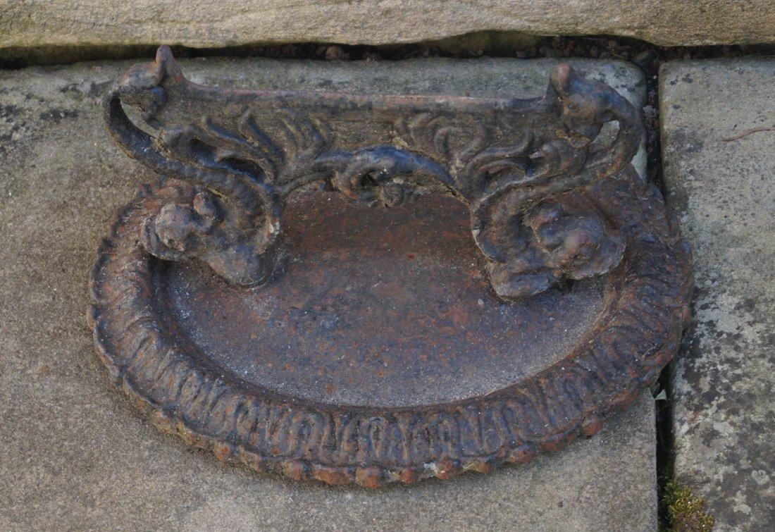 NINETEENTH-CENTURY CAST-IRON FOOT SCRAPER
