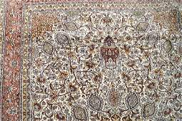IndoPersian Tabriz silk cotton carpet