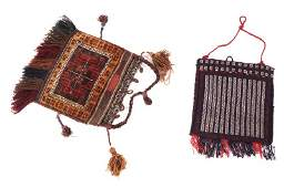 Lot of two Persian rugs and two saddle bags, circa 1900