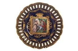 Pair of nineteenth-century Vienna plates