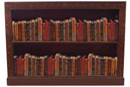 Edwardian period mahogany and marquetry open bookshelf