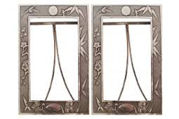 Pair of late nineteenth-century Chinese silver frames