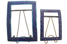 Pair of late nineteenth-century Indian enamel picture