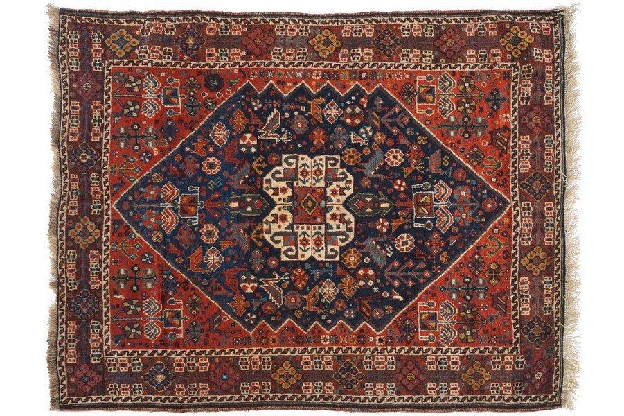 SOUTHWEST PERSIAN KHAMSEH RUG, CIRCA 1880