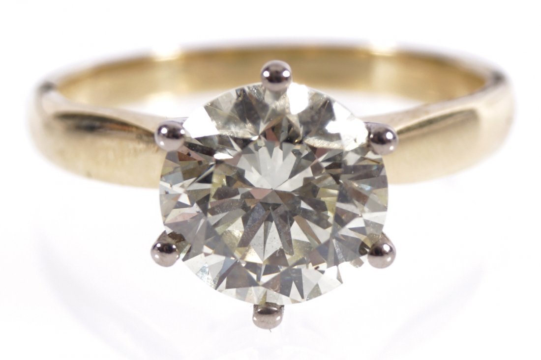 18 CT. GOLD 2 CT. DIAMOND SOLITAIRE RING