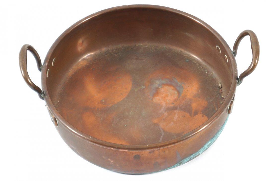 GEORGE III COPPER PRESERVING PAN