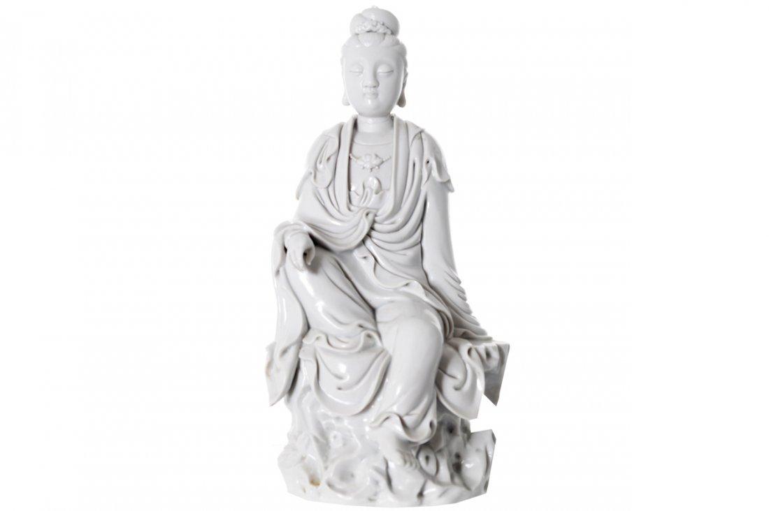 CHINESE EIGHTEENTH-CENTURY DEHUA BLANC DE CHINE FIGURE
