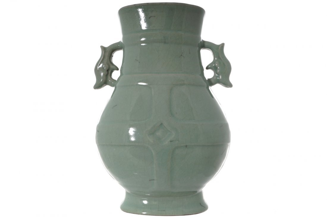 LARGE CHINESE GUAN-TYPE HU-FORM VASE