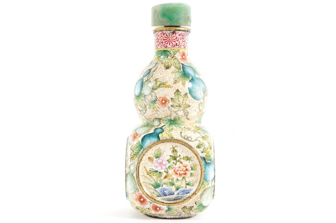 CHINESE QING PERIOD ENAMELLED SNUFF BOTTLE