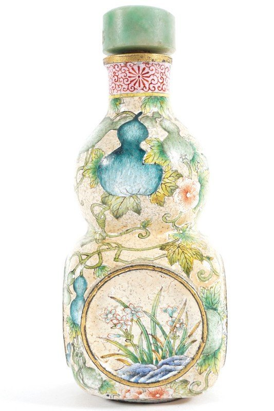 CHINESE QING PERIOD ENAMELLED SNUFF BOTTLE - 4