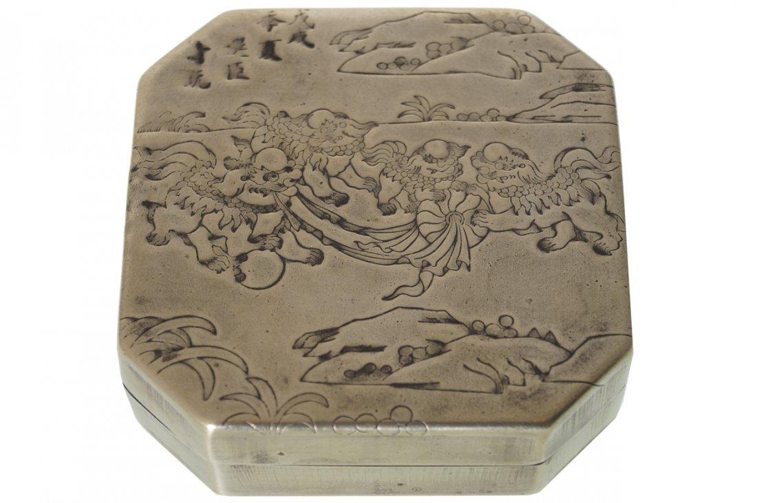 CHINESE PAKTONG OCTAGONAL BOX