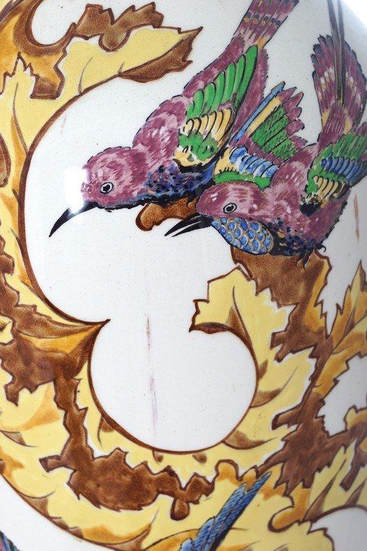 PAIR LARGE NINETEENTH-CENTURY JAPANESE BALUSTER VASES - 3