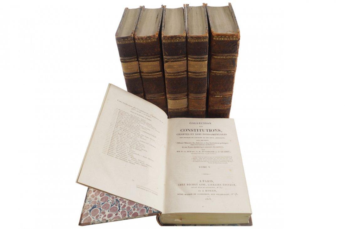 J.B. DUVERGIER. COLLECTION DES CONSTITUTIONS.